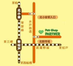 パートナー 八ヶ崎店へのアクセス